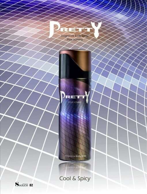 اسپری بدن مردانه پریتی Pretty Homme Seduce Body Spray